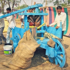 Fresh sugarcane juice machine.