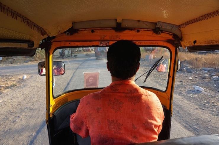 Meherabad, India rickshaw