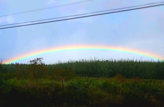 Our roadtrip to Astoria started with a rainbow sighting.