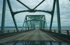 Middle of the Bridge: Entering Oregon
