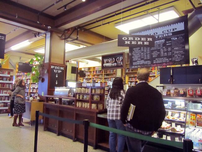powells portland coffeeshop