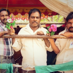 indian men flowers