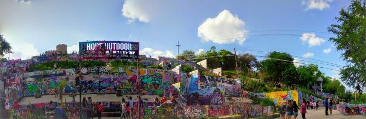 hope outdoor gallery street art austin