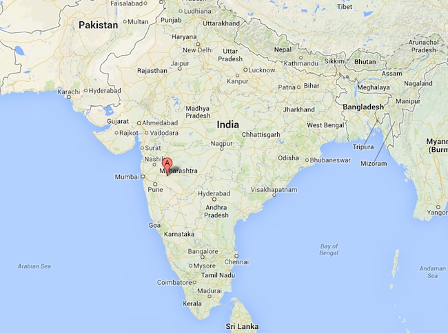 Ahmednagar India map