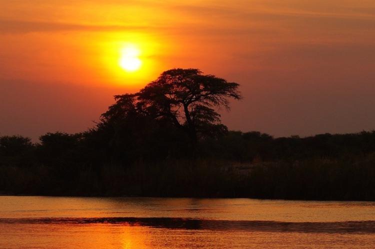 africa botswana sunset