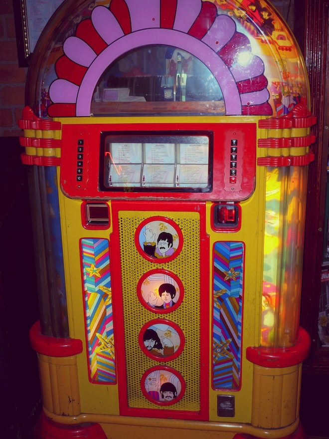 A Beatles jukebox containing music! Liverpool, UK