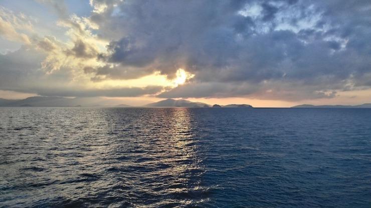 sunrise ocean thailand