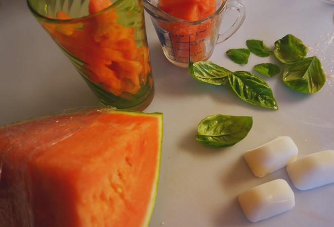 Watermelon, Basil and Coconut Agua Fresca Recipe