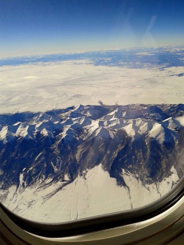 airplane window view