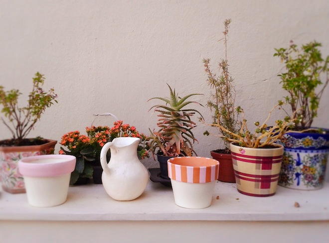 diy painting pots plants