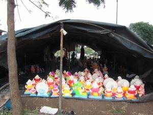 ganesha statues tent