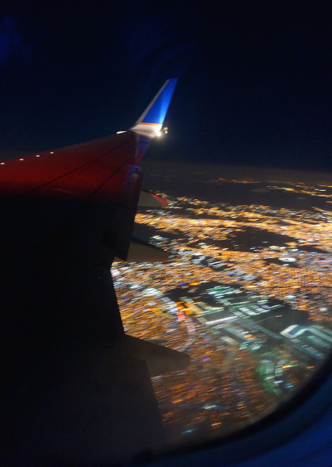 airplane view mexico city night
