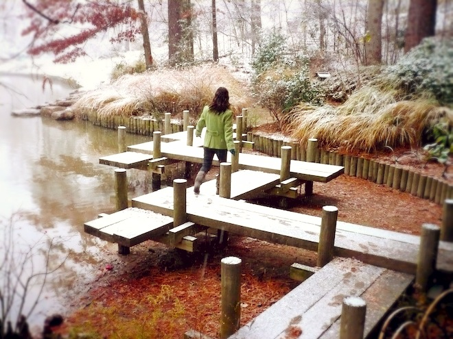 duke gardens durham snow
