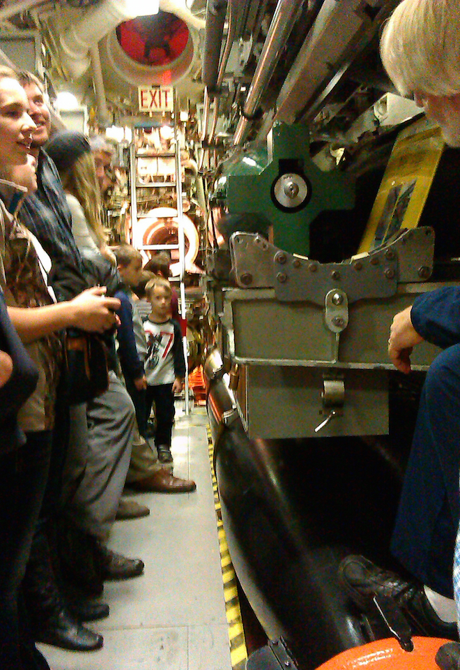 The torpedo room.