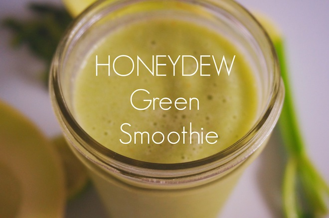 honeydew green smoothie1