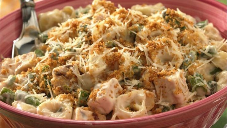 Wholesome Cheese Tortellini and Chicken Mushroom Casserole Recipe