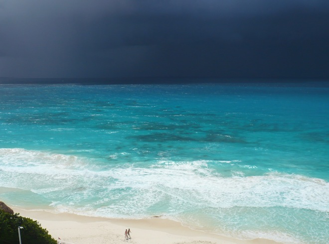 Cancun beach storm