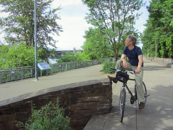 portland waterfront bikes josh