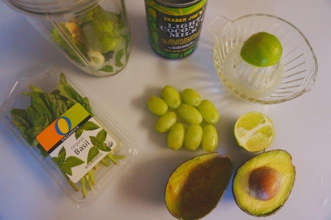 coconut avocado green smoothie