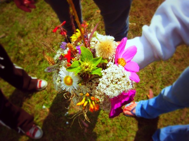 A wild flower bouquet made after camping in Mexico.