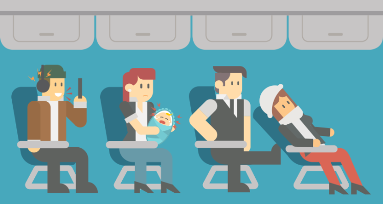 How to Deal With 11 Worst Airplane Etiquette Offenders