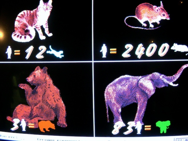 moscow russia scale animals