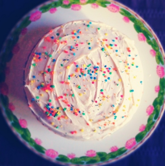 A birthday cake I made for no reason. March 2014