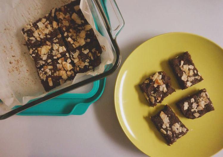 Flourless Date Coconut Brownies GF Paleo Vegan